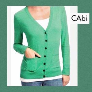 CAbi Lightweight Green Billi Cardigan Pockets🎉L